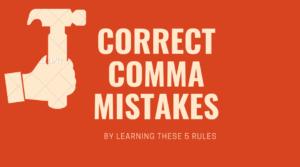 fix comma mistakes