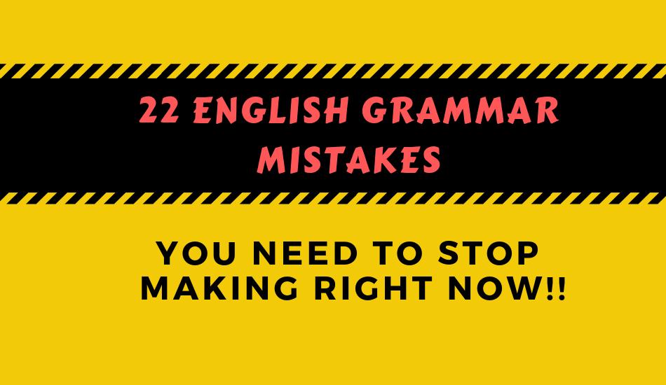 english grammar mistakes