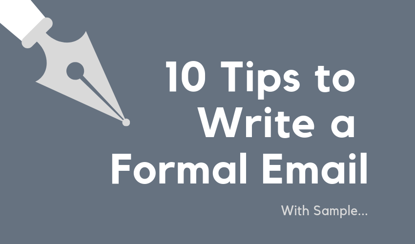 Write a Formal Email