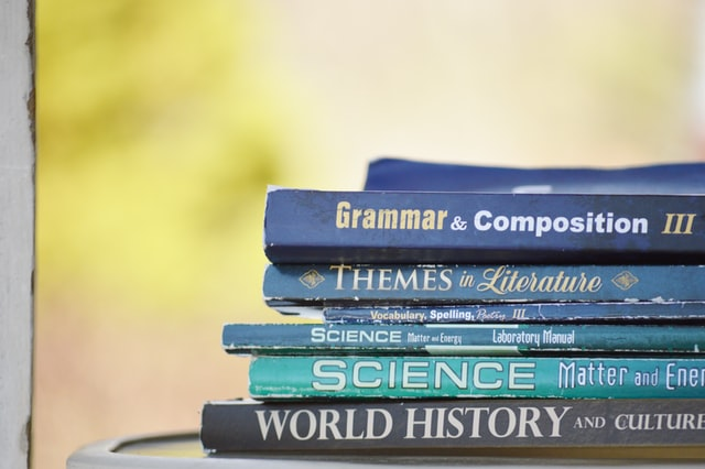 english grammar book on the top