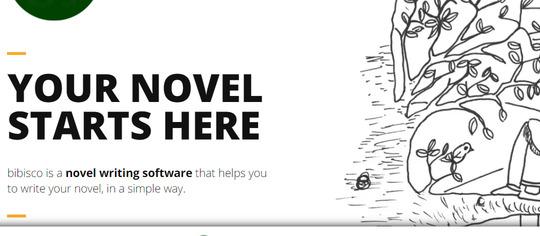 Bibisco writing software