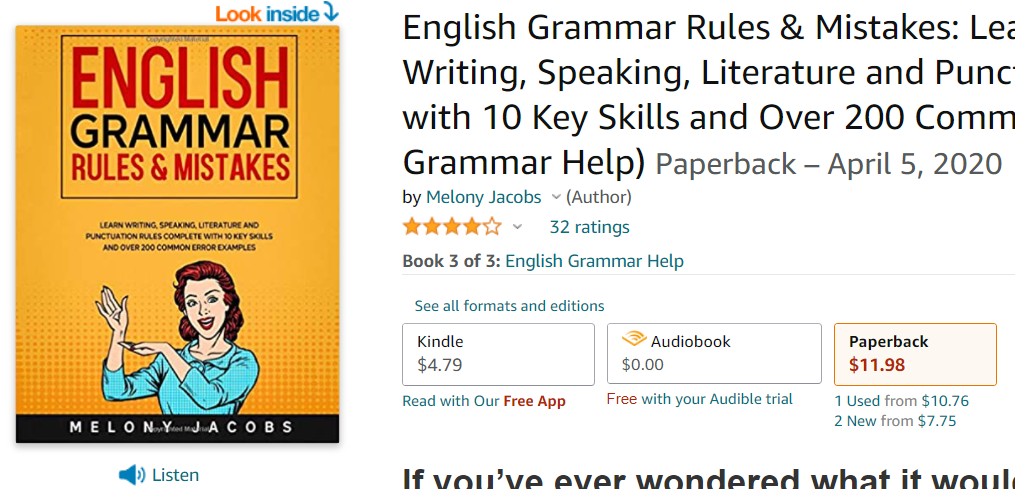 English Grammar Rules and Mistakes by Melony Jacobs