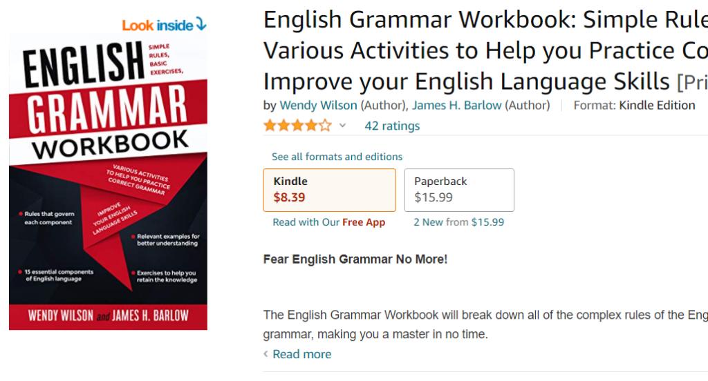 English Grammar Workbook by Wendy Wilson and James H. Barlow pdf