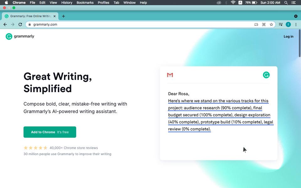 Grammarly.com best grammar checker